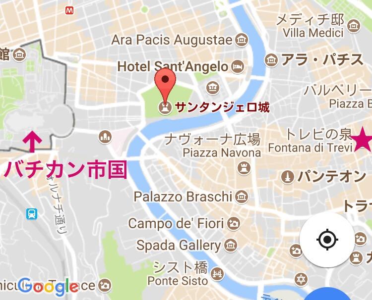 サンタンジェロ城への行き方 場所とmap