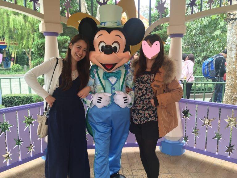 香港ディズニーランド ミッキーと写真撮影