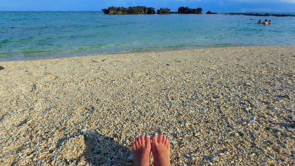与論島 ファミリーでシュノーケリング 赤崎海岸