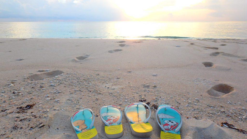 与論島のロマンチックなサンセット カップル旅行