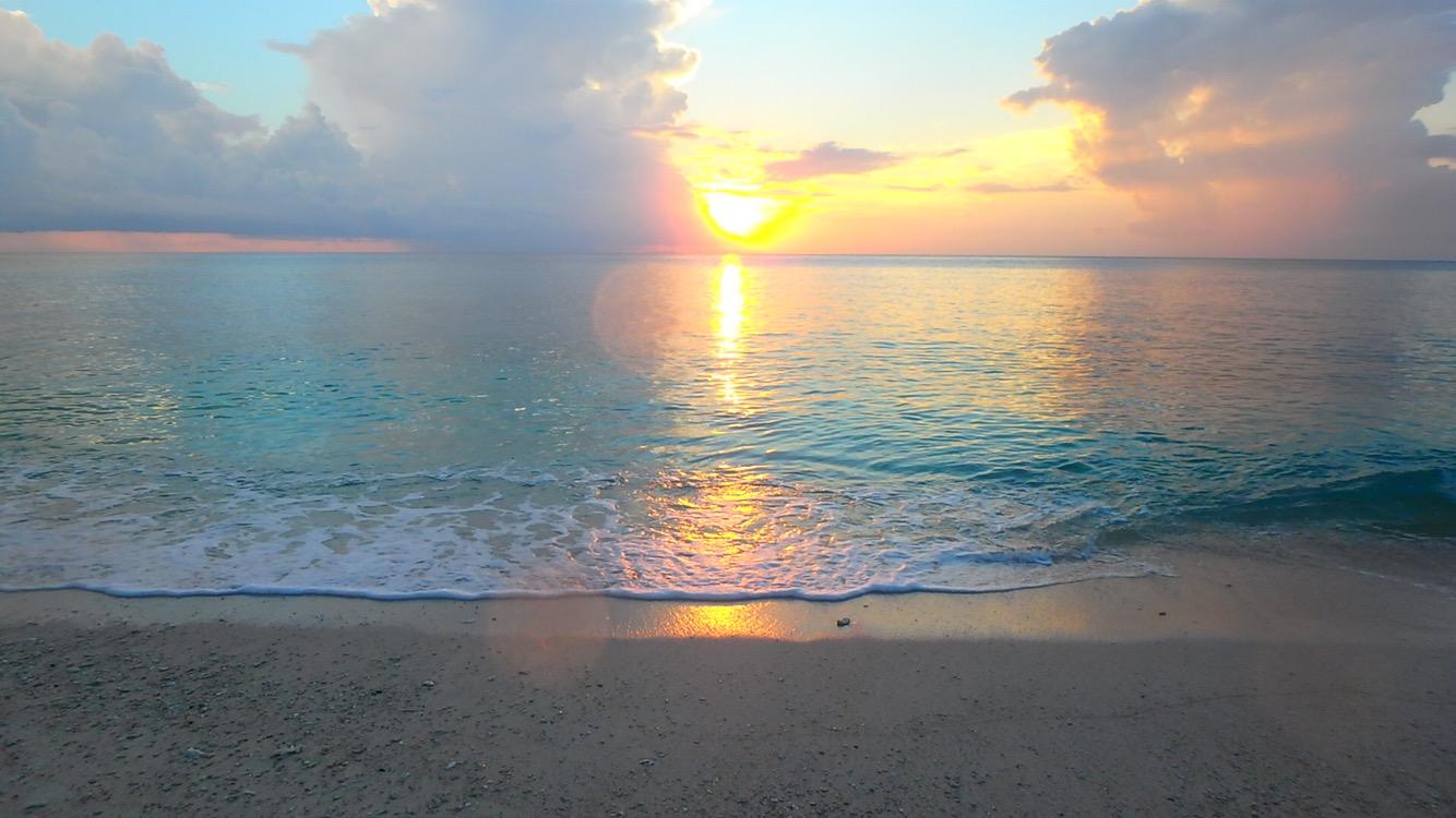 与論島のおすすめサンセット 兼母海岸