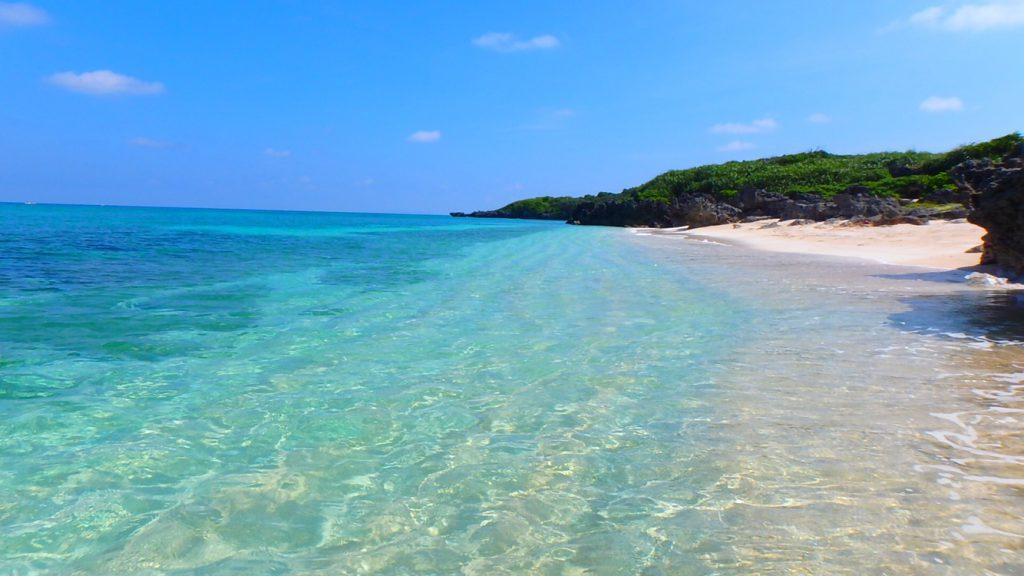 与論島 おすすめの綺麗な海岸 メーラビビーチ