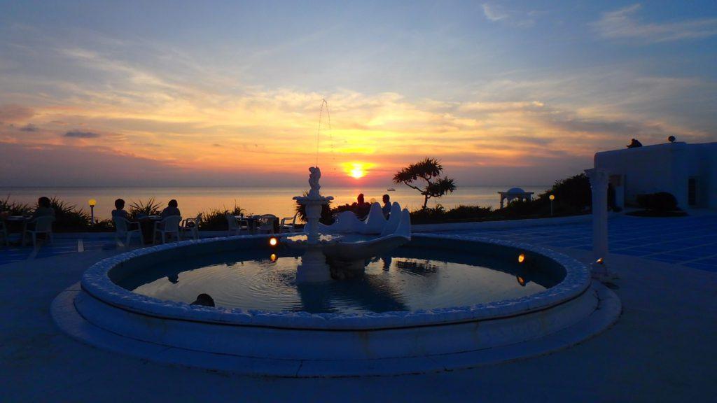 与論島の夕日とバーベキュー プリシアリゾート