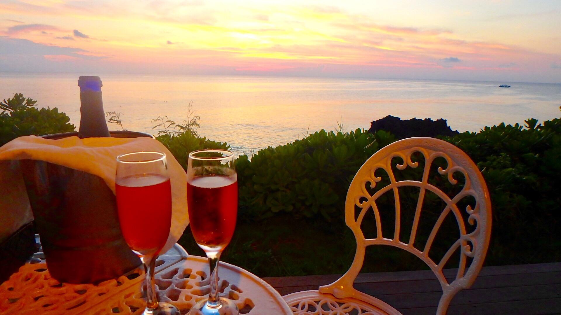 与論島おすすめレストラン 海の見える絶景テラス席