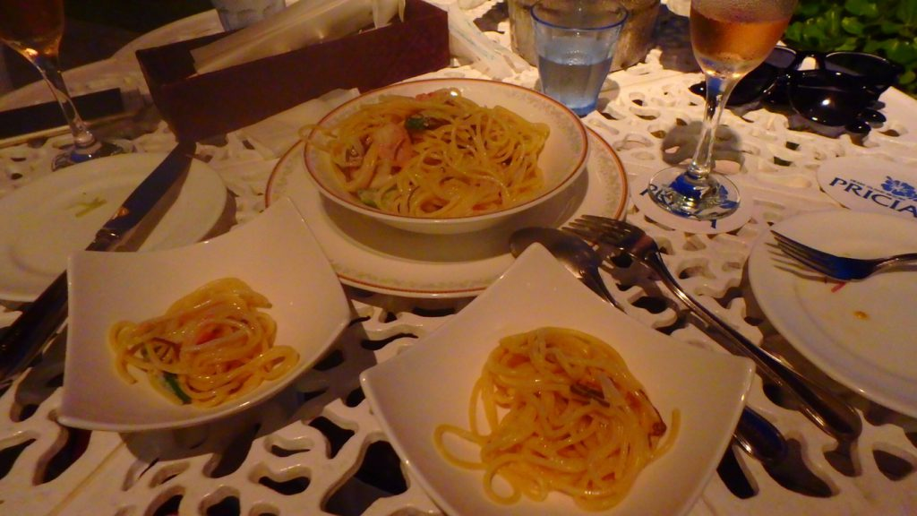 与論島のレストラン Anelia (アネリア) もずくのパスタ