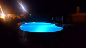 与論島 プリシアリゾートヨロン 夜のプール