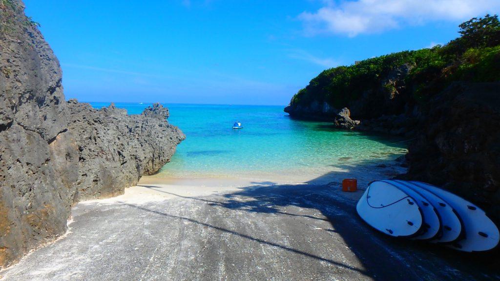 与論島でシュノーケリング アイギ浜