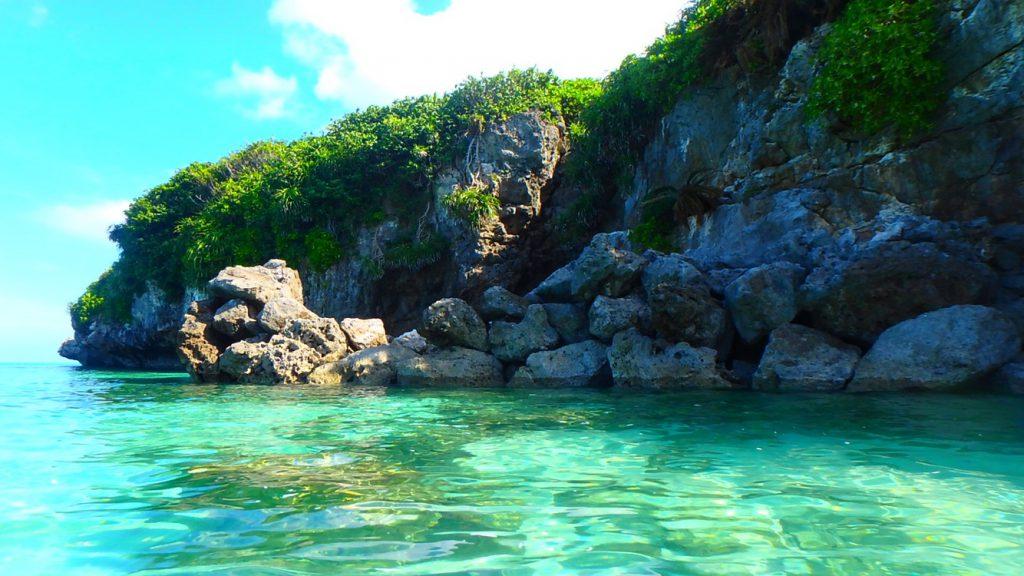 与論島 シュノーケリングできる海岸