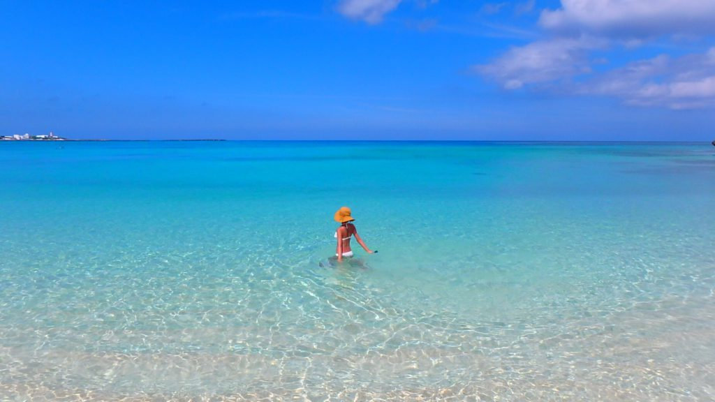 与論島の綺麗なビーチ