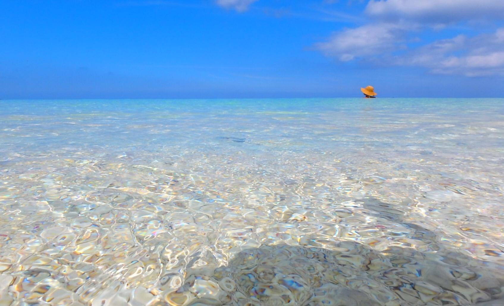 与論島 最高に綺麗なおすすめの海 ウドノスビーチ