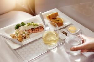 ニュージーランド航空 ビジネスクラスの機内食