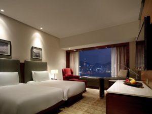 香港の九龍側 部屋から夜景が見えるホテル