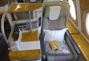 エミレーツ航空 ビジネスクラス  A380