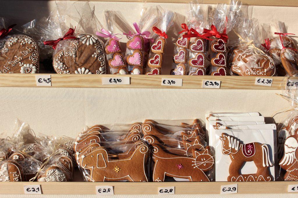 オーストリア クリスマスマーケット 可愛いクッキー