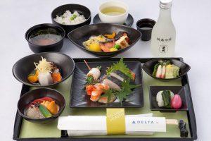 DELTA ビジネスクラスの機内食 和食