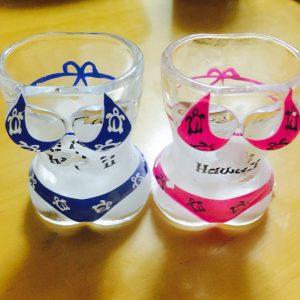 人気のハワイ土産 ペアのショットグラス