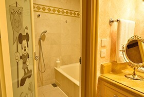ミラコスタ スイートルーム ミッキーのバスルーム