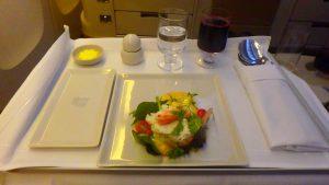 シンガポール航空 ビジネスクラスの機内食が美味しい!