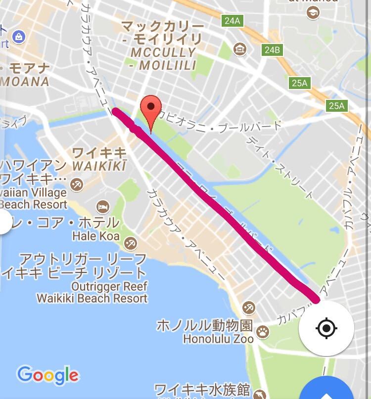 ハワイ おすすめジョギングコース 5km