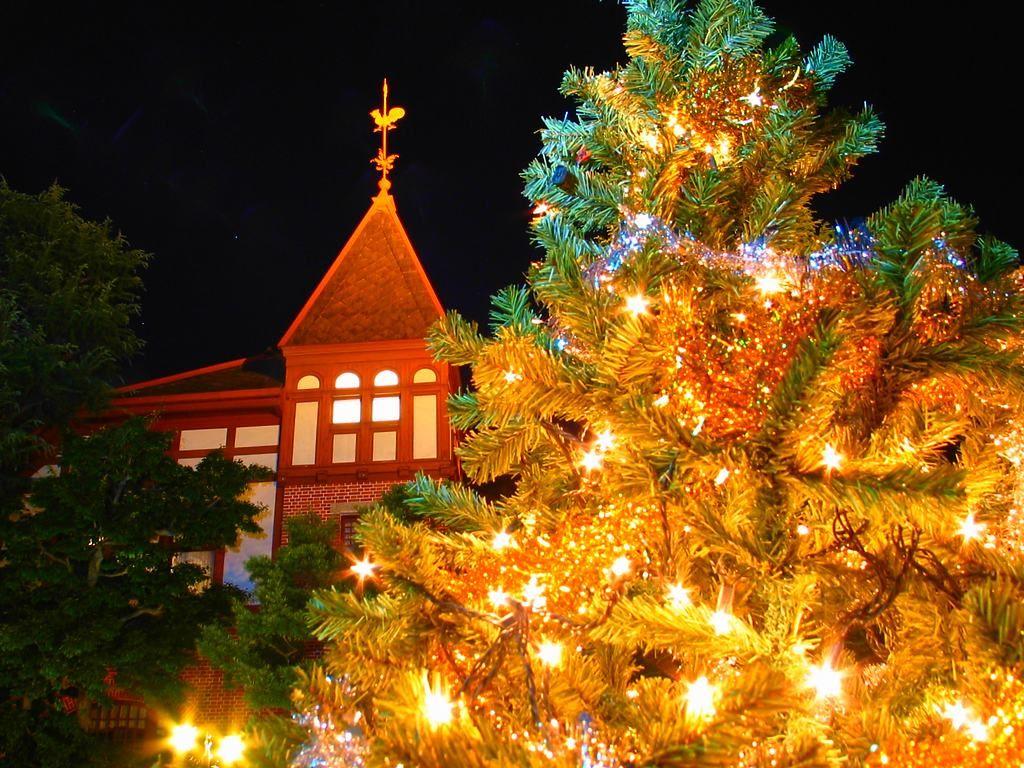 神戸の北野異人館 クリスマスのライトアップ