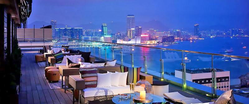 香港の夜景が見える おすすめroof top bar