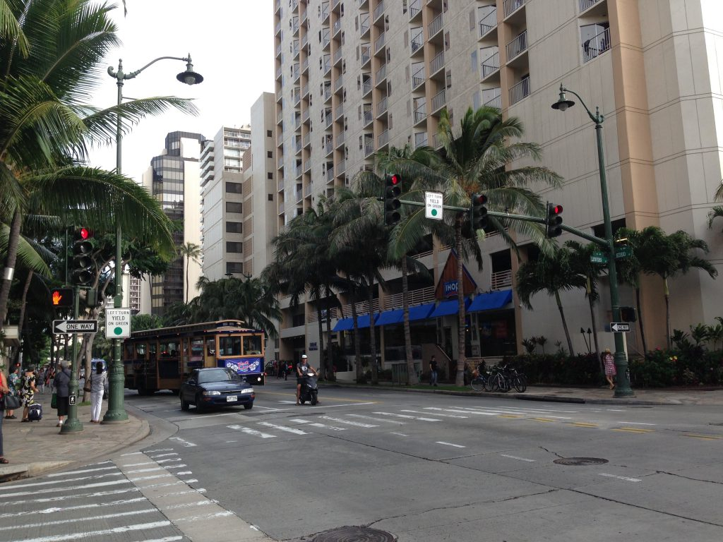 ハワイで初めて撮影した思い出の写真