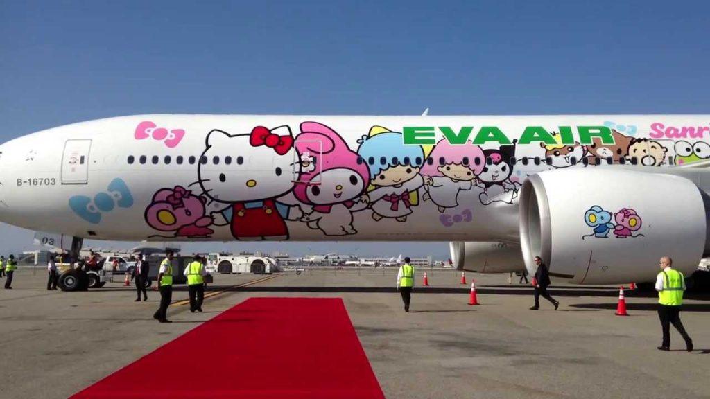 エバー航空 ハローキティジェットが可愛い 台湾
