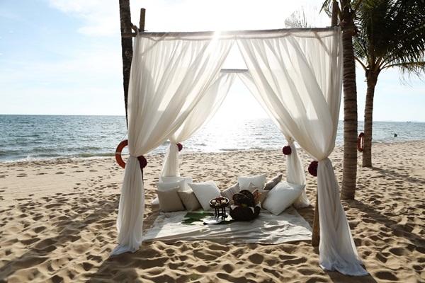 フーコック島ホテルのプライベートビーチ Salinda Resort