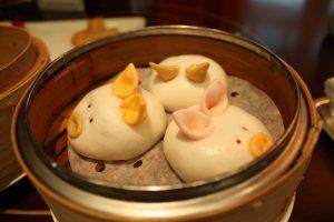 香港ディズニー ピグレットの点心飲茶