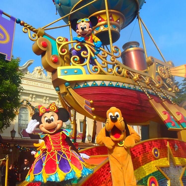 香港ディズニーランド 昼のパレード ミッキー&ミニー