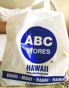 ハワイのABCストア ショップ袋 ビニールbag