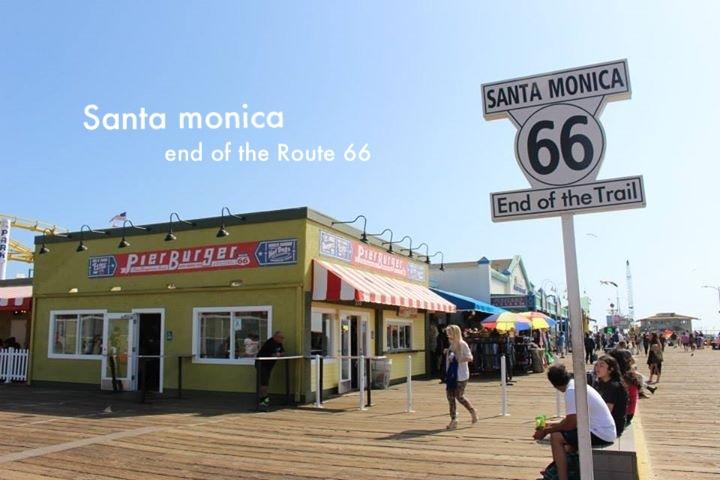 ロサンゼルス ルート66の終着地・サンタモニカピア