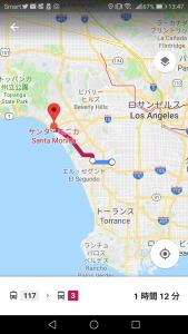 ロサンゼルスからサンタモニカ アクセス