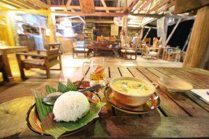 カンボジア Kampotのsamon village bungalows