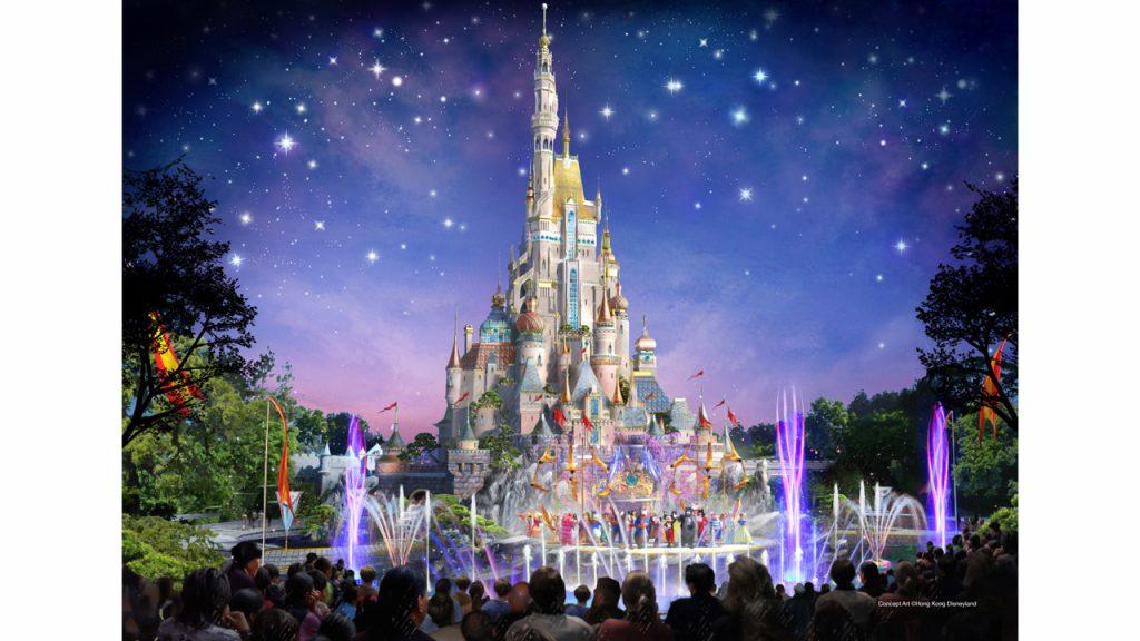 香港ディズニーランドの新しいお城
