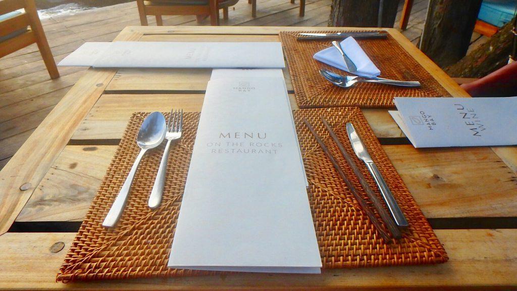 フーコックで美味しいベトナム料理 レストランのメニュー