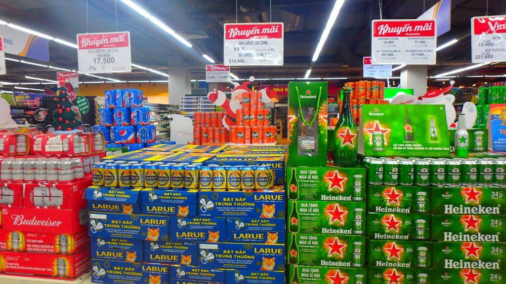 ダナンのスーパー 食料品やビールも安い!