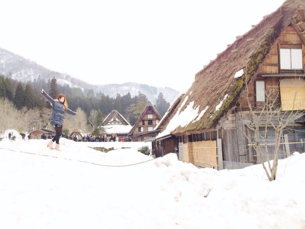 雪の中の白川郷