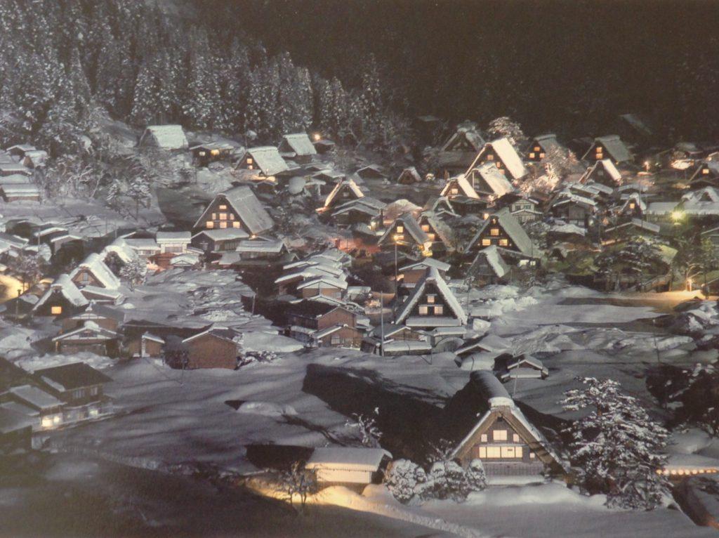 冬の白川郷 ライトアップ
