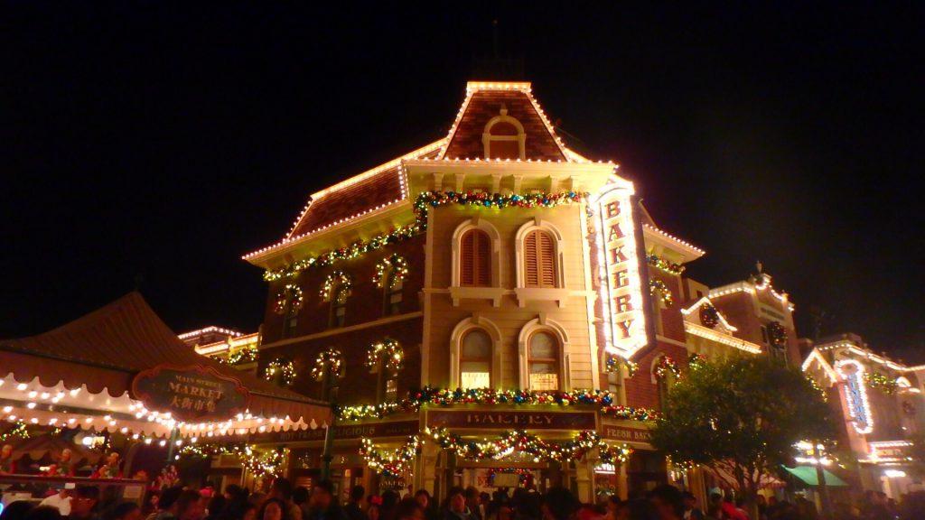 クリスマスの香港ディズニー イルミネーション