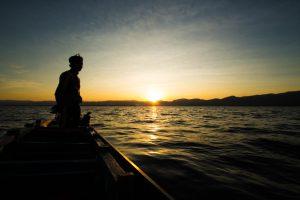 インレー湖のサンセット