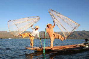 ミャンマーのインレー湖 フィッシャーマン