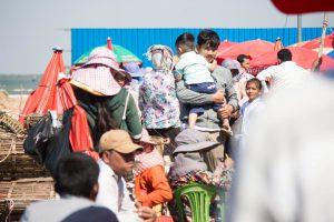 カンボジア ケップの市場