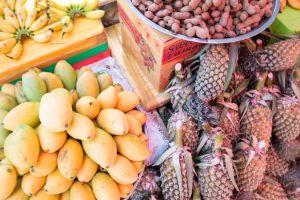 カンボジア ケップのマーケット フルーツ