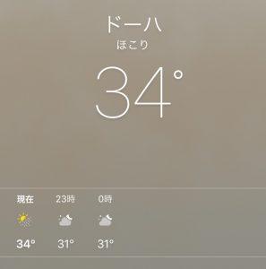 ドーハの気候 気温と天気