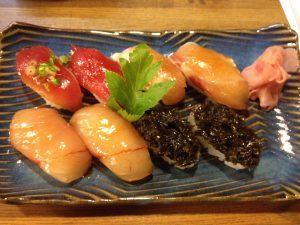八丈島の名物 美味しい島寿司 梁山泊