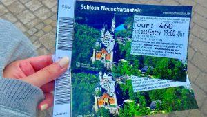 ノイシュヴァンシュタイン城 入場チケット