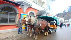 ノイシュヴァンシュタイン城行きの馬車