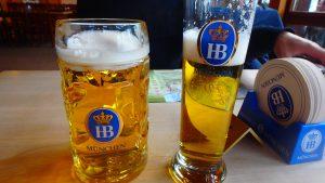ノイシュヴァンシュタイン城近くのレストラン ドイツビール