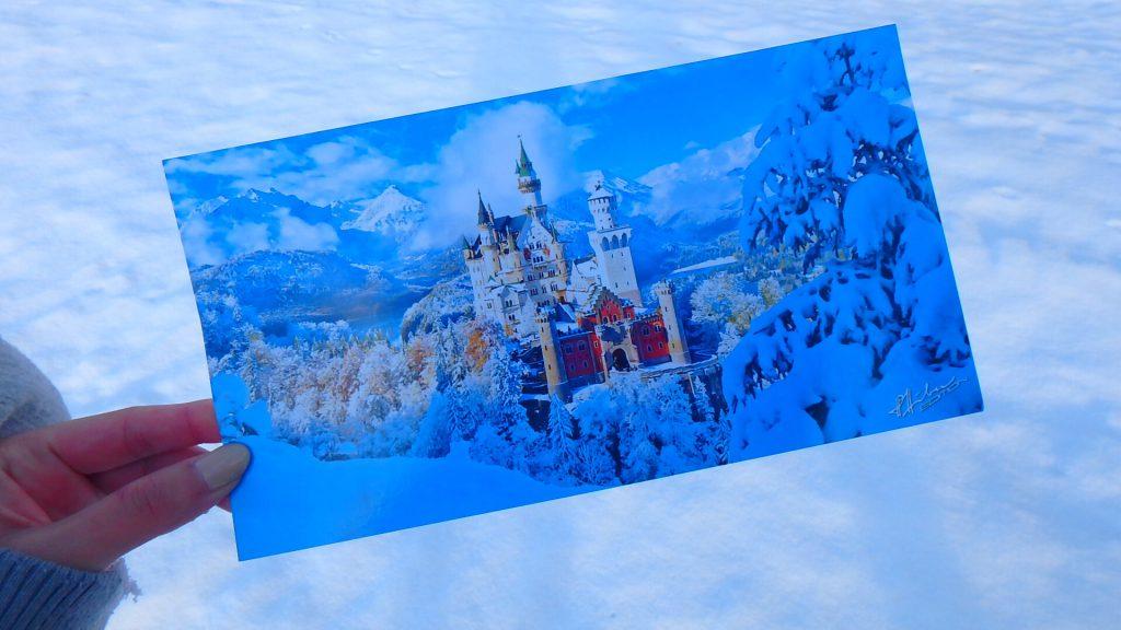 ノイシュバンシュタイン城 雪